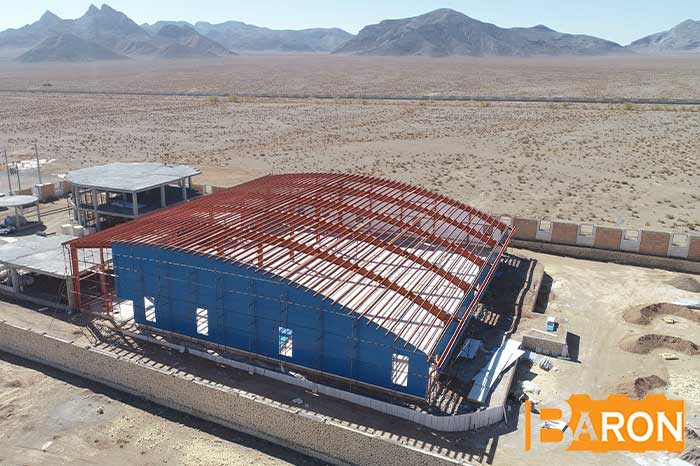 Application of sandwich panels in the construction of sheds